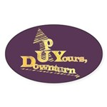 Up Yours Downturn Oval Sticker