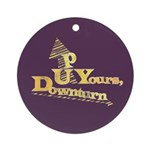 Up Yours Downturn Ornament (Round)