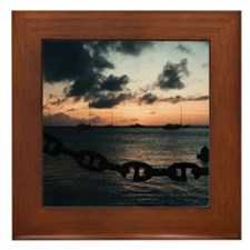 "Bequia ""Apres Dive"" Framed Tile"