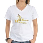 Up Yours Downturn Women's V-Neck T-Shirt