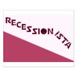 Recessionista Small Poster