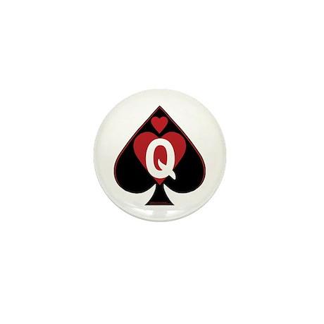 Queen Of Spades Mini Button