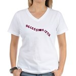 Recessionista Women's V-Neck T-Shirt
