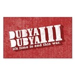 End Dubya Dubya III Rectangle Sticker 10 pk)