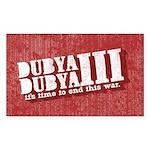 End Dubya Dubya III Rectangle Sticker