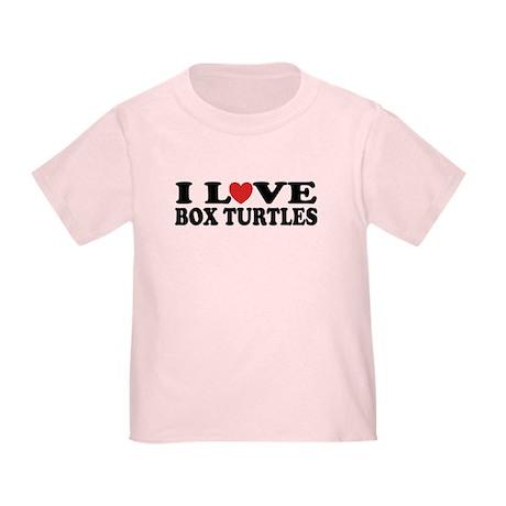 I Love Box Turtles Toddler T-Shirt