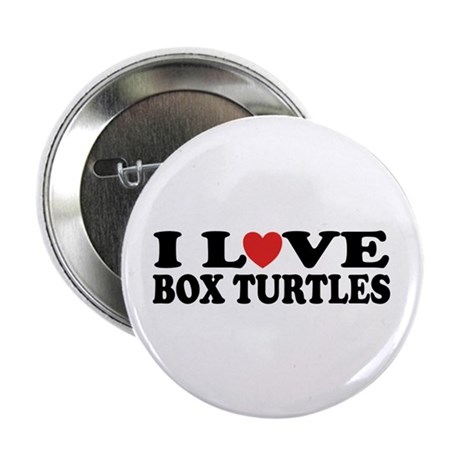 """I Love Box Turtles 2.25"""" Button (10 pack)"""