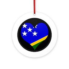 I love Solomon Islands Fla Ornament (Round)