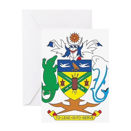 Solomon Islands Coat of Ar Greeting Card