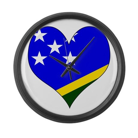I Love Solomon Islands Large Wall Clock
