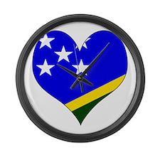 I Love Solomon Islands Large Wall Clock