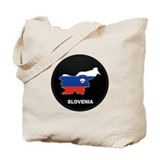 Flag Map of Slovenia Tote Bag