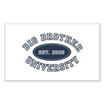 Big Brother University Rectangle Sticker 10 pk)