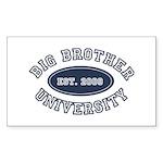 Big Brother University Rectangle Sticker 50 pk)