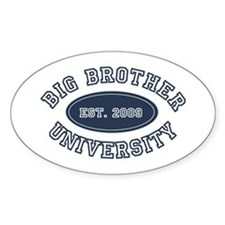 Big Brother University Oval Decal