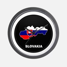 Flag Map of Slovakia Wall Clock