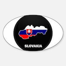 Flag Map of Slovakia Oval Decal