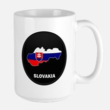Flag Map of Slovakia Mug