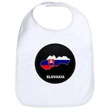 Flag Map of Slovakia Bib