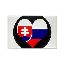 I love Slovakia Flag Rectangle Magnet
