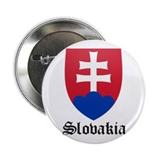 """Slovak Coat of Arms Seal 2.25"""" Button"""
