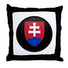 Coat of Arms of Slovakia Throw Pillow