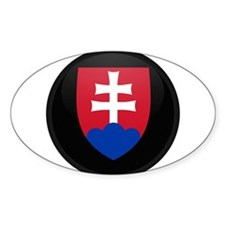 Coat of Arms of Slovakia Oval Decal
