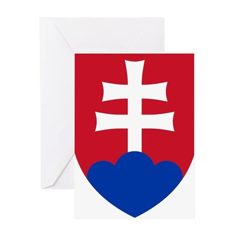 Slovakia Coat of Arms Greeting Card