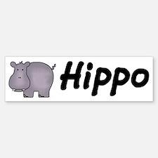 Hippo Bumper Bumper Bumper Sticker