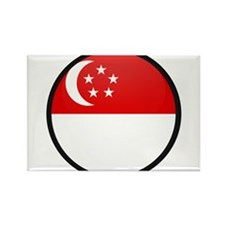 SINGAPORE Rectangle Magnet
