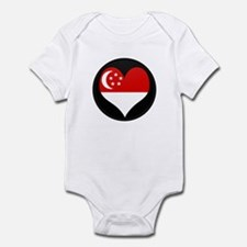 I love SINGAPORE Flag Infant Bodysuit