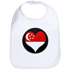 I love SINGAPORE Flag Bib