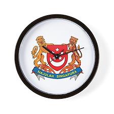 Singaporean Coat of Arms Seal Wall Clock