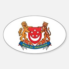 Singaporean Coat of Arms Seal Oval Decal