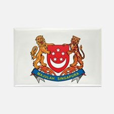 Singaporean Coat of Arms Seal Rectangle Magnet