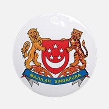 Singaporean Coat of Arms Seal Ornament (Round)