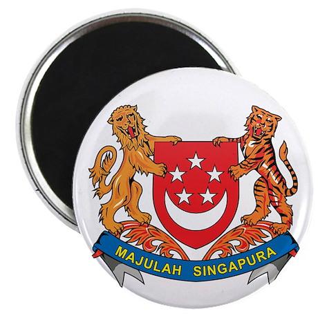 "Singaporean Coat of Arms Seal 2.25"" Magnet (10 pac"