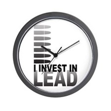 I Invest In Lead Wall Clock