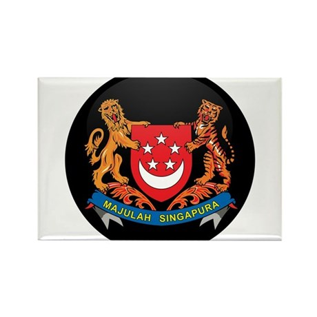 Coat of Arms of SINGAPORE Rectangle Magnet