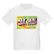 Oak Park Illinois Greetings (Front) T-Shirt