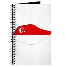 SINGAPORE Flag Map Journal