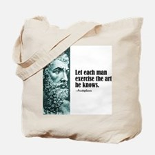 "Aristophanes ""Each Man"" Tote Bag"