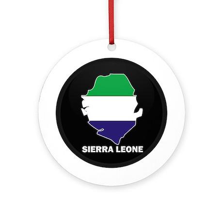 Flag Map of Sierra Leone Ornament (Round)