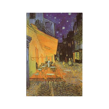 Van Gogh Cafe Terrace at Night Rectangle Magnet (1