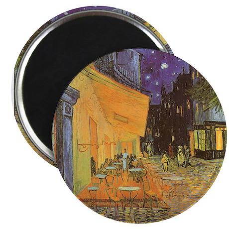 "Van Gogh Cafe Terrace at Night 2.25"" Magnet (100 p"