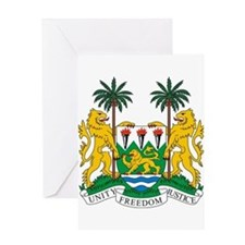 Sierra Leone Coat of Arms Greeting Card