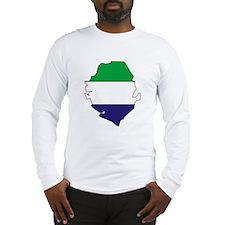 Sierra Leone Flag Map Long Sleeve T-Shirt