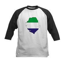 Sierra Leone Flag Map Tee