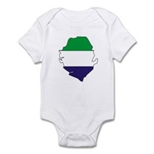 Sierra Leone Flag Map Infant Bodysuit