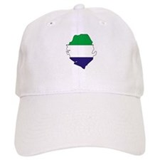 Sierra Leone Flag Map Baseball Cap